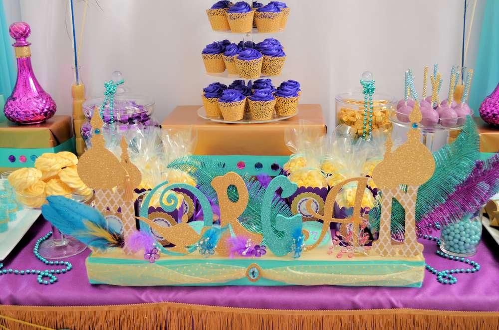 Aladdin Themed Birthday Party