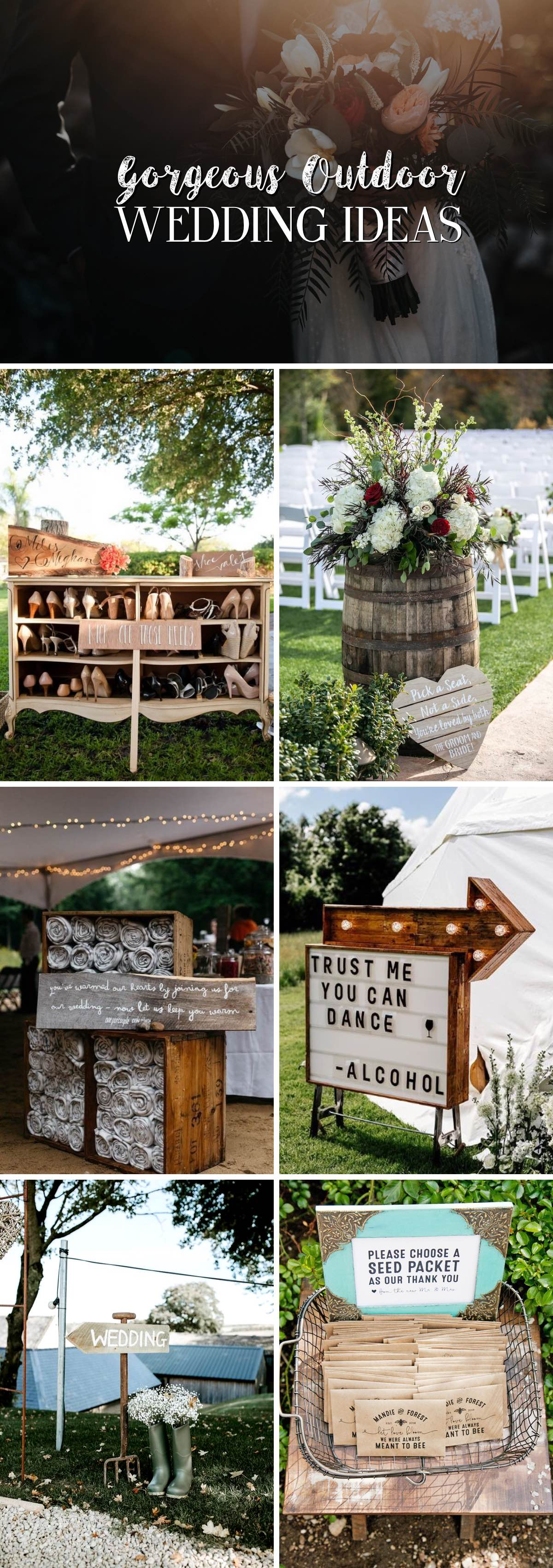 14 Gorgeous Outdoor Wedding Ideas Making Your Big Day Even More Special!