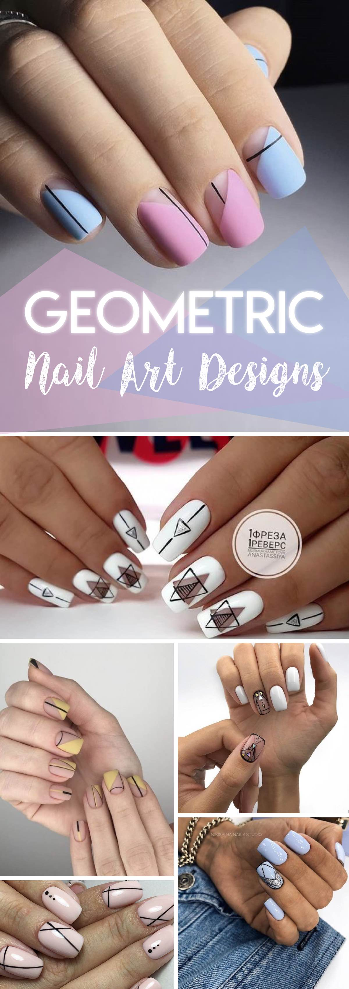 18 Uber-Cool Geometric Nail Art Designs Taking Everyone's Breath Away!