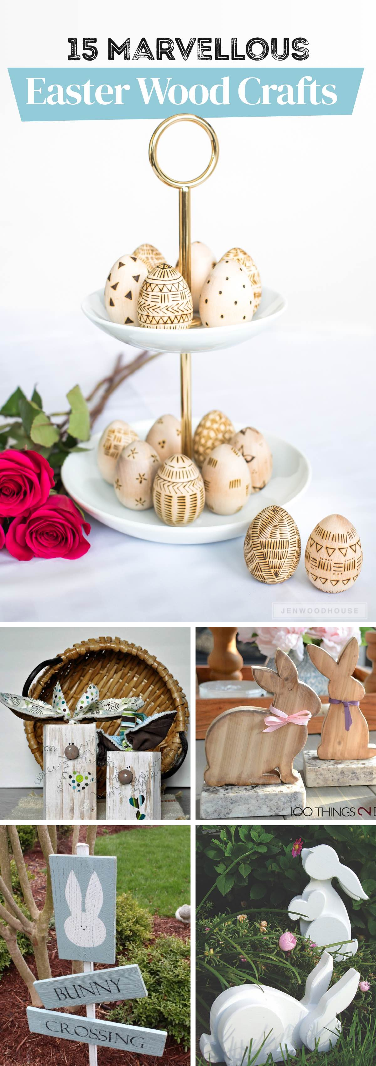 15 Marvellous Easter Wood Crafts to Adorn the Space with Bright Hues!